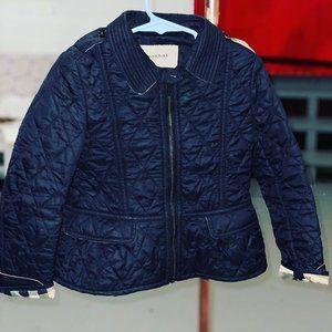 Burberry Peplum Zippered Jacket